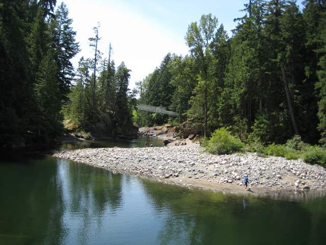 rathtrevor beach provincial park  parksville  englishman river