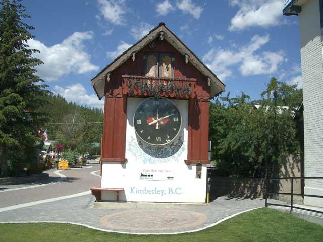 Kimberley BC Map Bavarian City Rocky Mountains Platzl