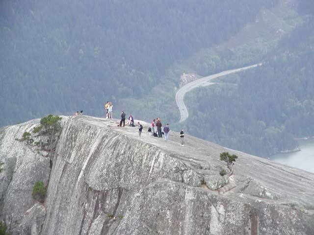 Squamish Stawamus Chief Rock Climbing Viewing Bald Eagles