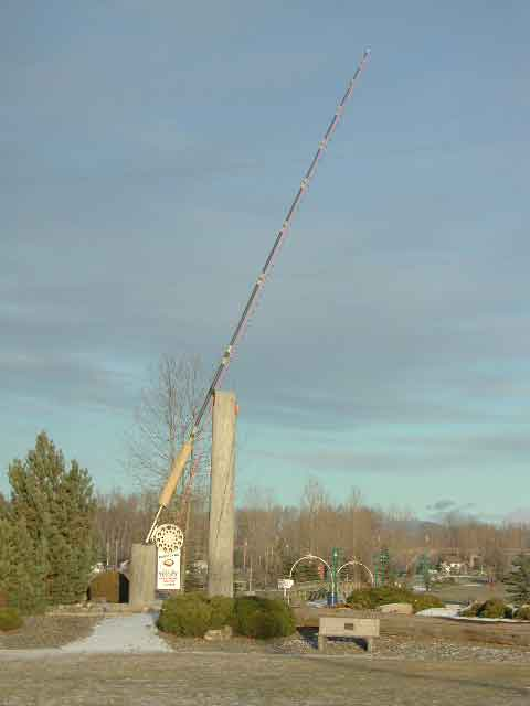 houston, bc map, world's largest fly fishing rod, canfor mill, Fishing Rod