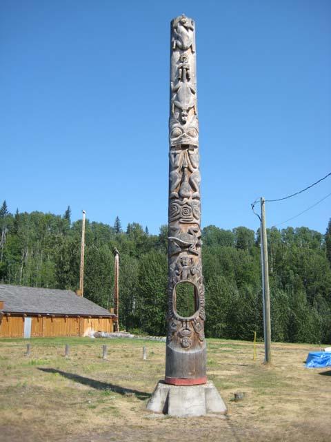 Kitwancool Totem Poles Gitanyow Gas Bar Kitwanga Steelhead Fishing